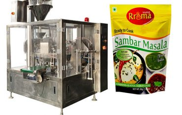 Automatic doy bag with zipper for chilli powder packing machine